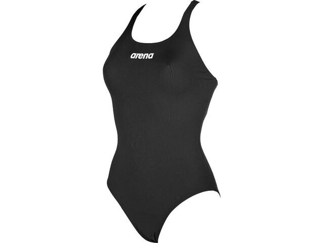 arena Solid Swim Pro Bañador Mujer, black-white
